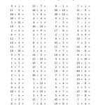 Math Worksheet: Two Times Table Worksheet Basic Facts Test Division | Basic Facts Worksheets Printable