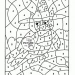 Math Worksheets Colornumber 4Th Grade Coloring Pages Fresh   Free | Printable Color By Number Math Worksheets