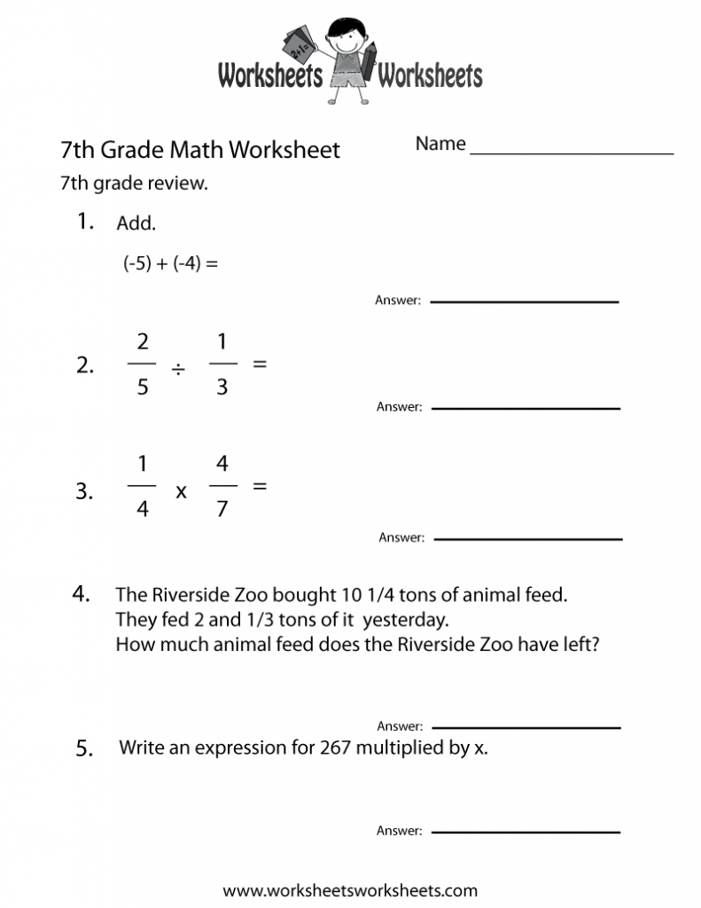 Math Worksheets For 7Th Graders Grade Printable Impressive Exponents | 7Th Grade Math Worksheets Printable Pdf