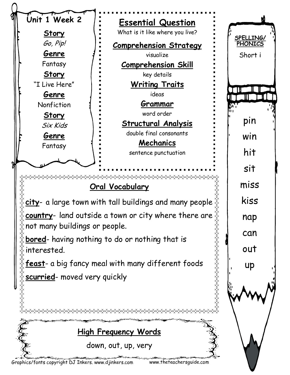 Mcgraw-Hill Wonders First Grade Resources And Printouts | 1St Grade Vocabulary Worksheets Printable