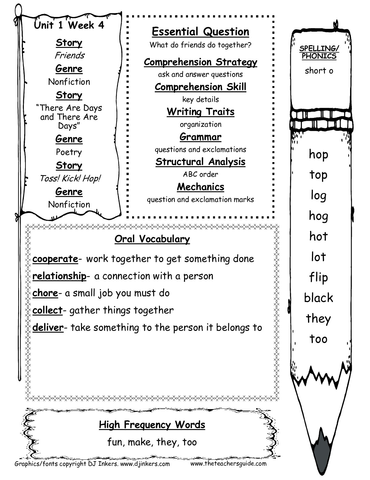 Mcgraw-Hill Wonders First Grade Resources And Printouts | First Grade Vocabulary Worksheets Printable