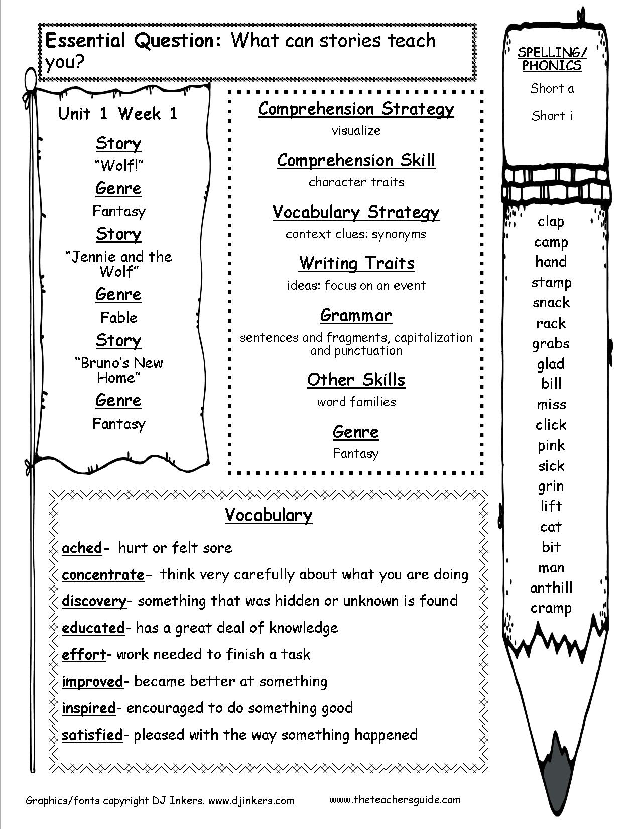 Mcgraw-Hill Wonders Third Grade Resources And Printouts | Grade 3 Vocabulary Worksheets Printable