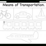 Means Of Transportation – Tracing Worksheet / Free Printable | Kgi | Free Printable Transportation Worksheets For Kids