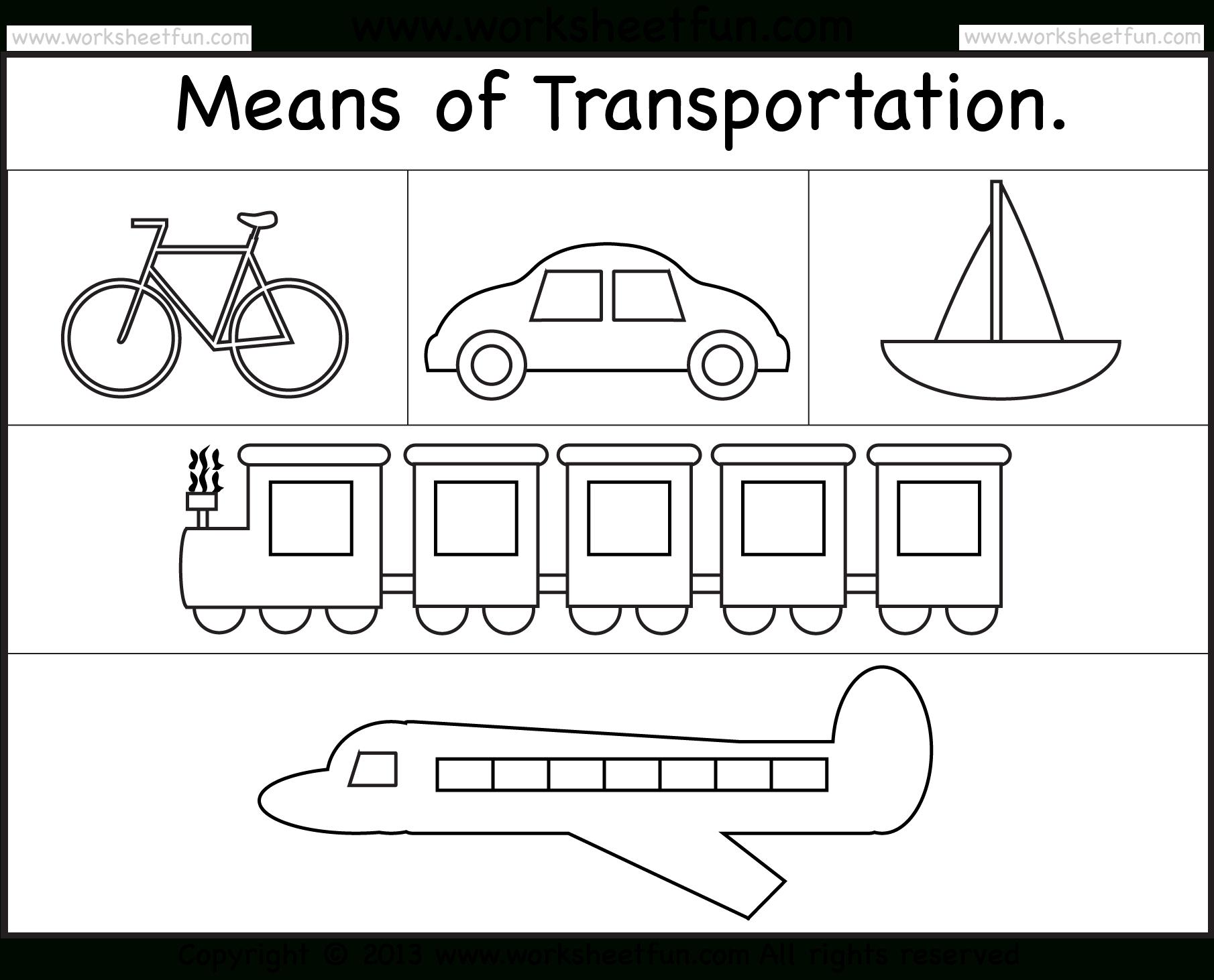 Means Of Transportation – Worksheet / Free Printable Worksheets | Free Printable Transportation Worksheets For Kids