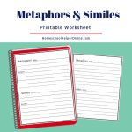 Metaphors & Similes Worksheet   Homeschool Helper Online | Foreshadowing Worksheets Printable
