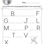 Missing Alphabet Letters Worksheet (Free Printable)   Doozy Moo | Printable Alphabet Worksheets
