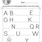 Missing Letter Worksheets (Free Printables)   Doozy Moo | Printable Alphabet Worksheets