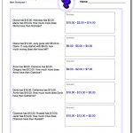 Money Word Problems   3Rd Grade Multiplication Word Problems Worksheets Printable