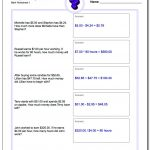 Money Word Problems | Free Printable Money Word Problems Worksheets