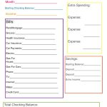 Monthly Family Budget | If Only I Was This Organized | Simple Budget Worksheet Printable