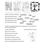 Months And Seasons Worksheet   Free Esl Printable Worksheets Made | Free Printable Seasons Worksheets
