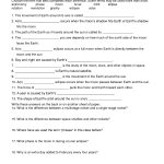 Moon Tides Worksheet | Earth And Moon Worksheet | Science Lessons | 5Th Grade Science Printable Worksheets