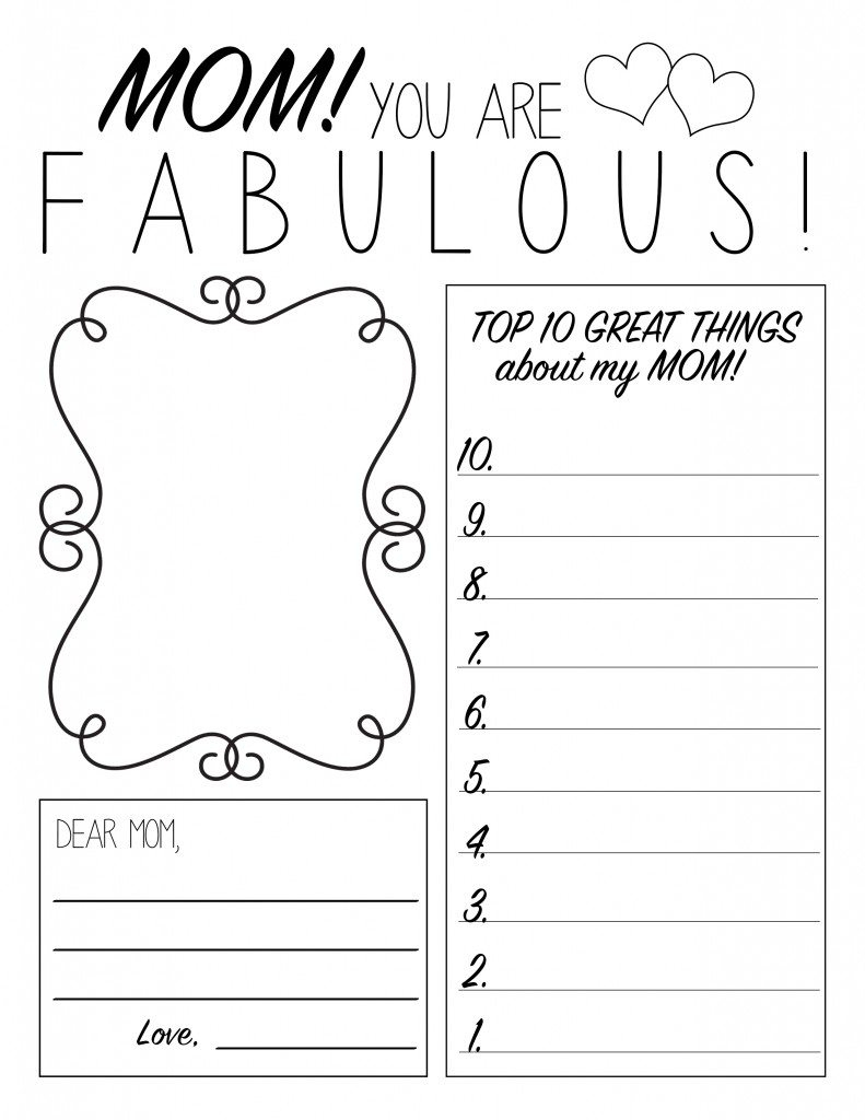 Mother's Day Printable Worksheet | All Things Thrifty | Are You My Mother Printable Worksheets