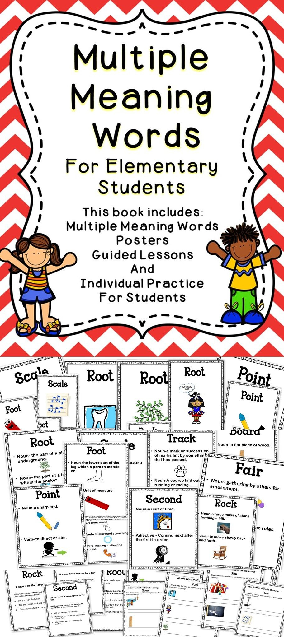 Multiple Meaning Words | 2Nd Grade // Ela | Multiple Meaning Words | Free Printable Multiple Meaning Words Worksheets