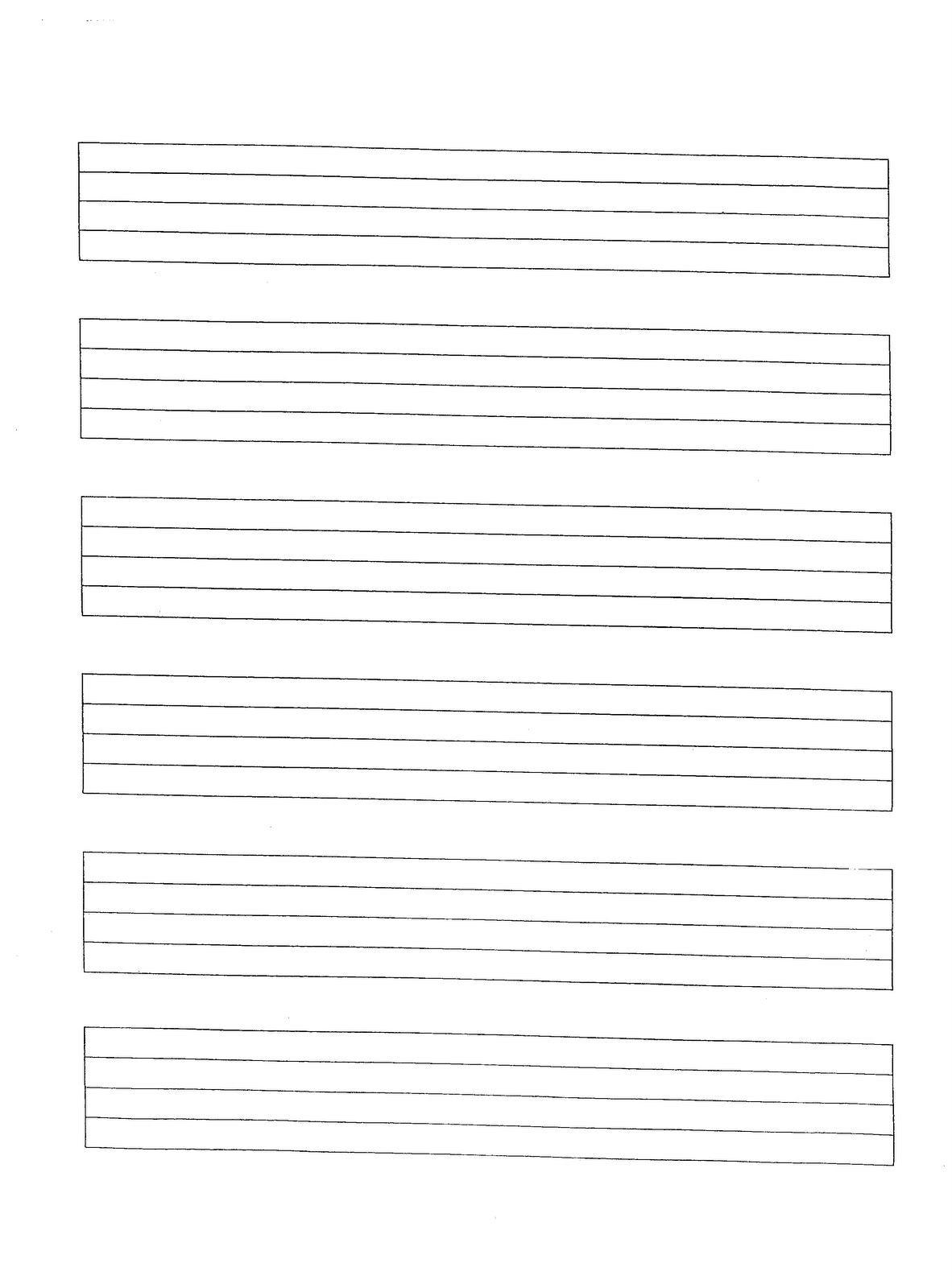 Music Manuscript Paper Free Printable | Sites Where You Can Find | Manuscript Printable Worksheets