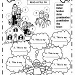 My Family: The Family Exercise | Family Printable Worksheets