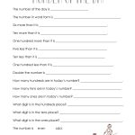 Number Of The Day (Worksheet Collection) | Squarehead Teachers | Free Printable Number Of The Day Worksheets