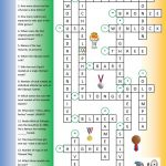 Olympic Games Crossword (Key) Worksheet   Free Esl Printable | Olympic Printable Worksheets
