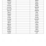Open And Closed Syllable List.pdf | Wilson Fundations | Syllable | Free Printable Open And Closed Syllable Worksheets