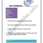 Our Yearbook   Esl Worksheetpaula.garrigues | Yearbook Printable Worksheets