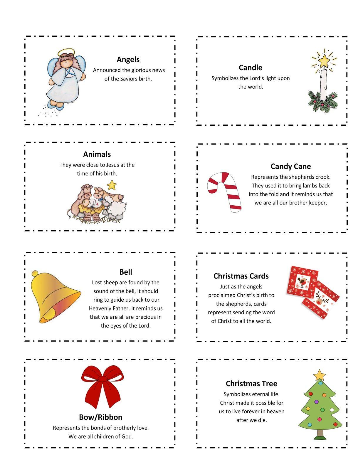 Ourhomecreations: Free Printable With 25 Days Of Christmas Symbols | Christian Christmas Worksheets Printable Free