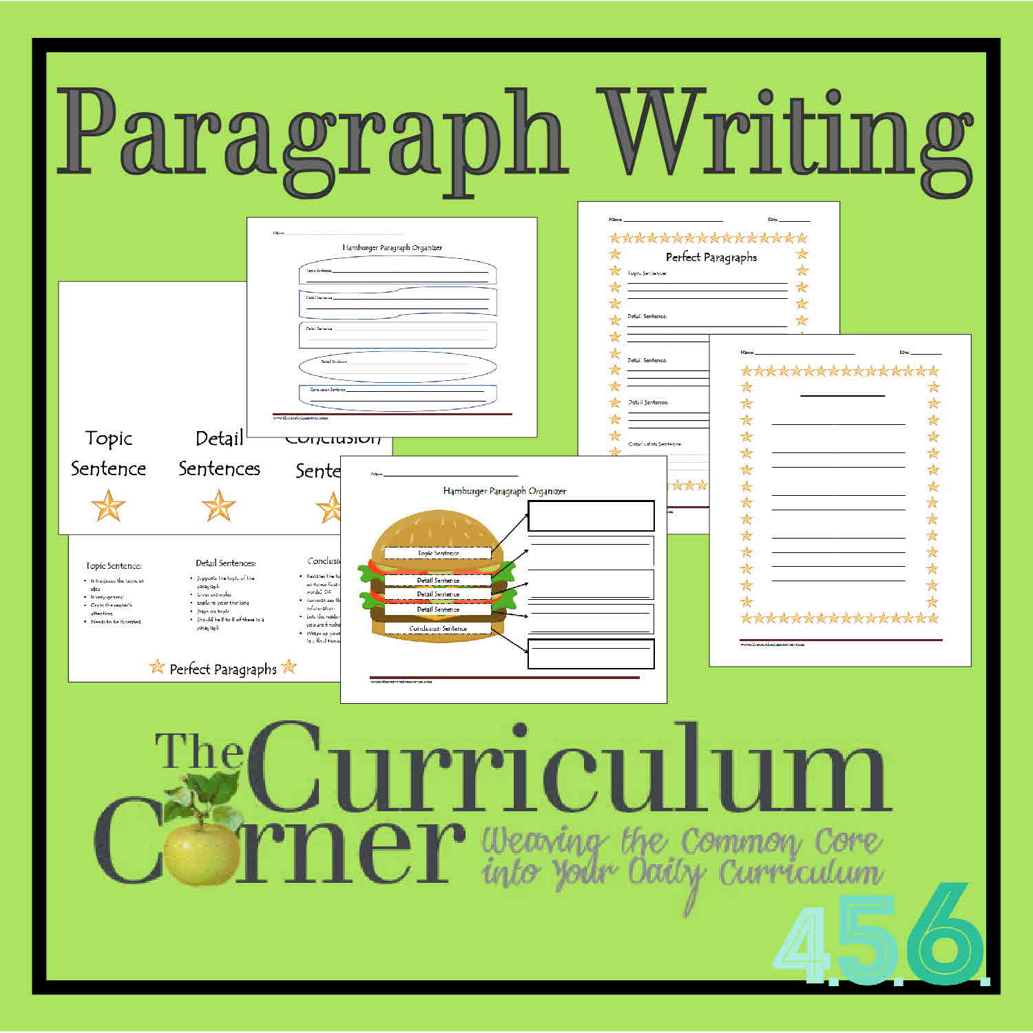 Paragraph Writing - The Curriculum Corner 4-5-6   Free Printable Paragraph Writing Worksheets