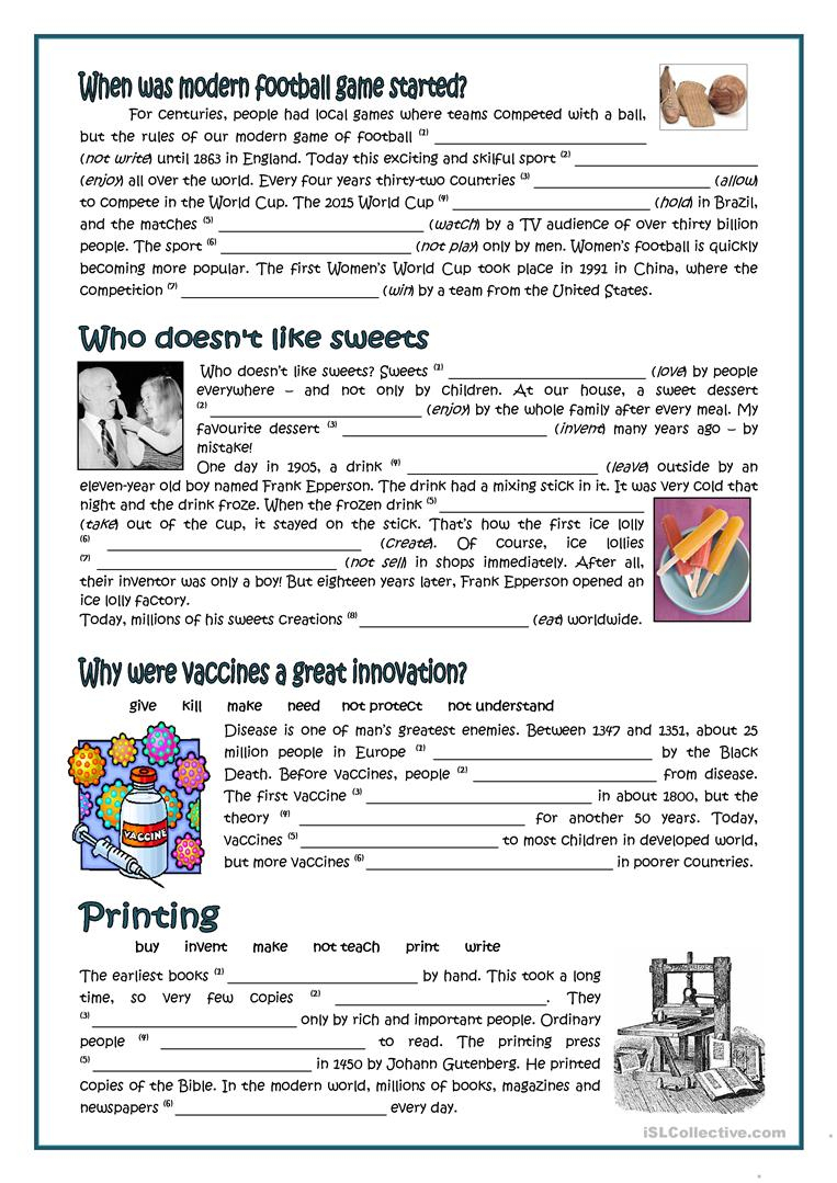 Passive - Inventors And Inventions Worksheet - Free Esl Printable | Inventions Printable Worksheets