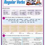 Past Simple Of Regular Verbs Worksheet   Free Esl Printable | Past Simple Printable Worksheets