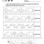 Pattern Activity Worksheet   Free Kindergarten Worksheet For Kids | Kindergarten Worksheets Printable Activities