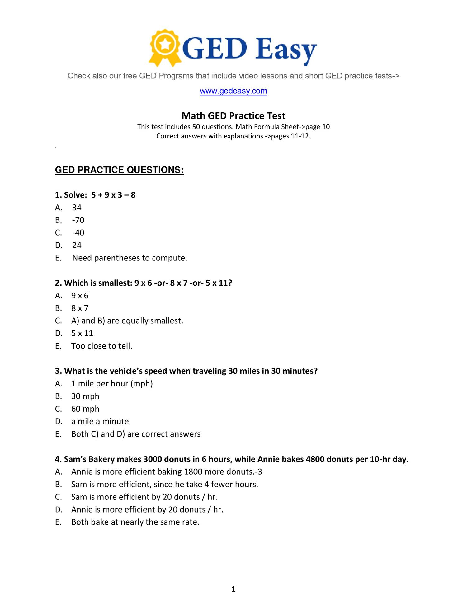 Pdf Printable Ged Practice Book | Wiring Library | Printable Ged Science Practice Worksheets
