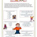 Personality Test I. Worksheet   Free Esl Printable Worksheets Made | Personality Quiz Printable Worksheet