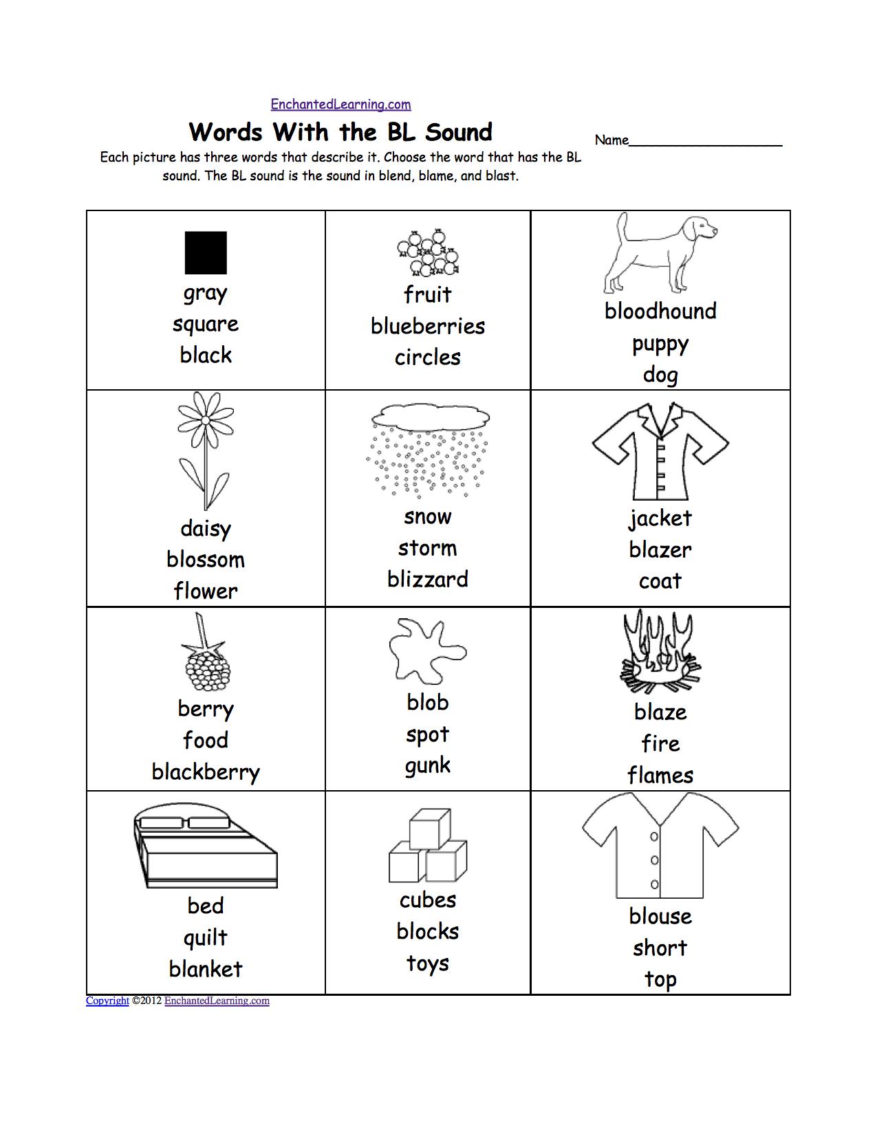 Phonics Worksheets: Multiple Choice Worksheets To Print | Qu Worksheets Printable