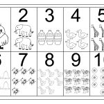 Picture Number Chart 1 10 | Printable Worksheets | Numbers Preschool | Printable Worksheets For Preschoolers On Numbers 1 10