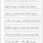 Pinannette 🌸🌼🌺 On Cursive Writing | Cursive Handwriting | Free Printable Cursive Writing Sentences Worksheets