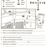 Pincaissey Adams On Directions | Map Worksheets, Social Studies | Grade 3 Social Studies Worksheets Printable