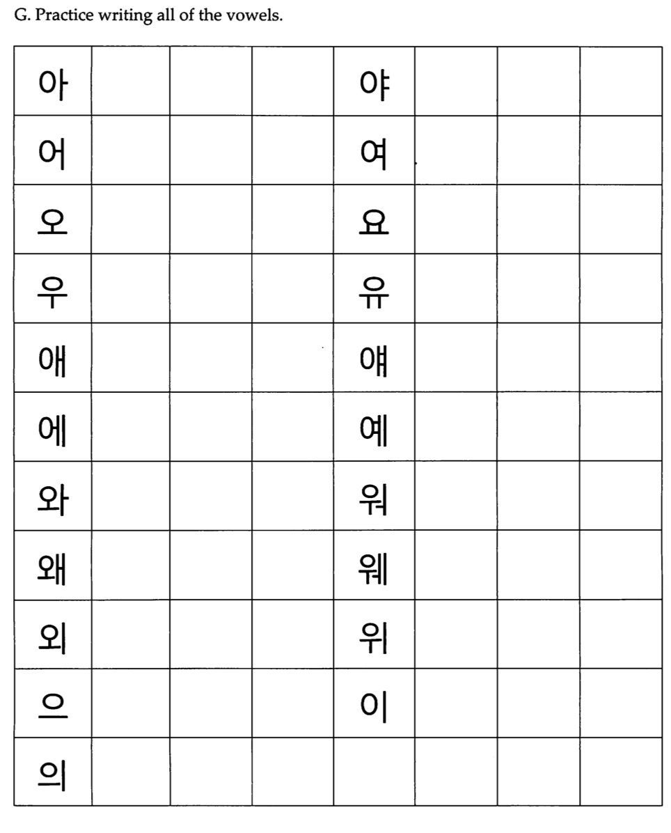 Pinerika J On Korean | Korean Language Learning, Korean Alphabet | Printable Korean Language Worksheets