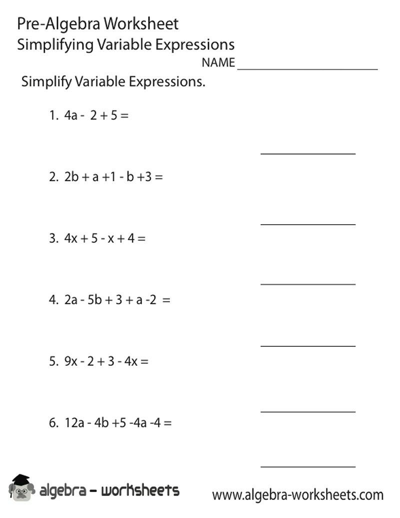 Pinjerry Jenkins On Kids Learning | Algebra Worksheets, 8Th | Free Printable 8Th Grade Algebra Worksheets