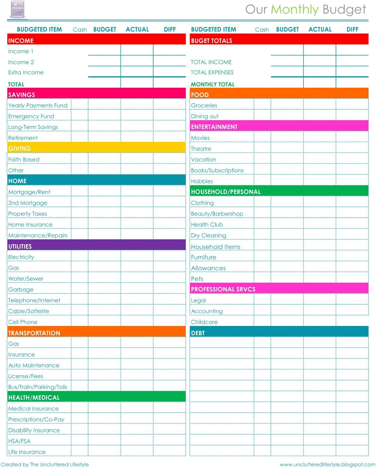 Pinprintables Kathy Loves <3 On Binders~Home Organization   Free Printable Home Organization Worksheets
