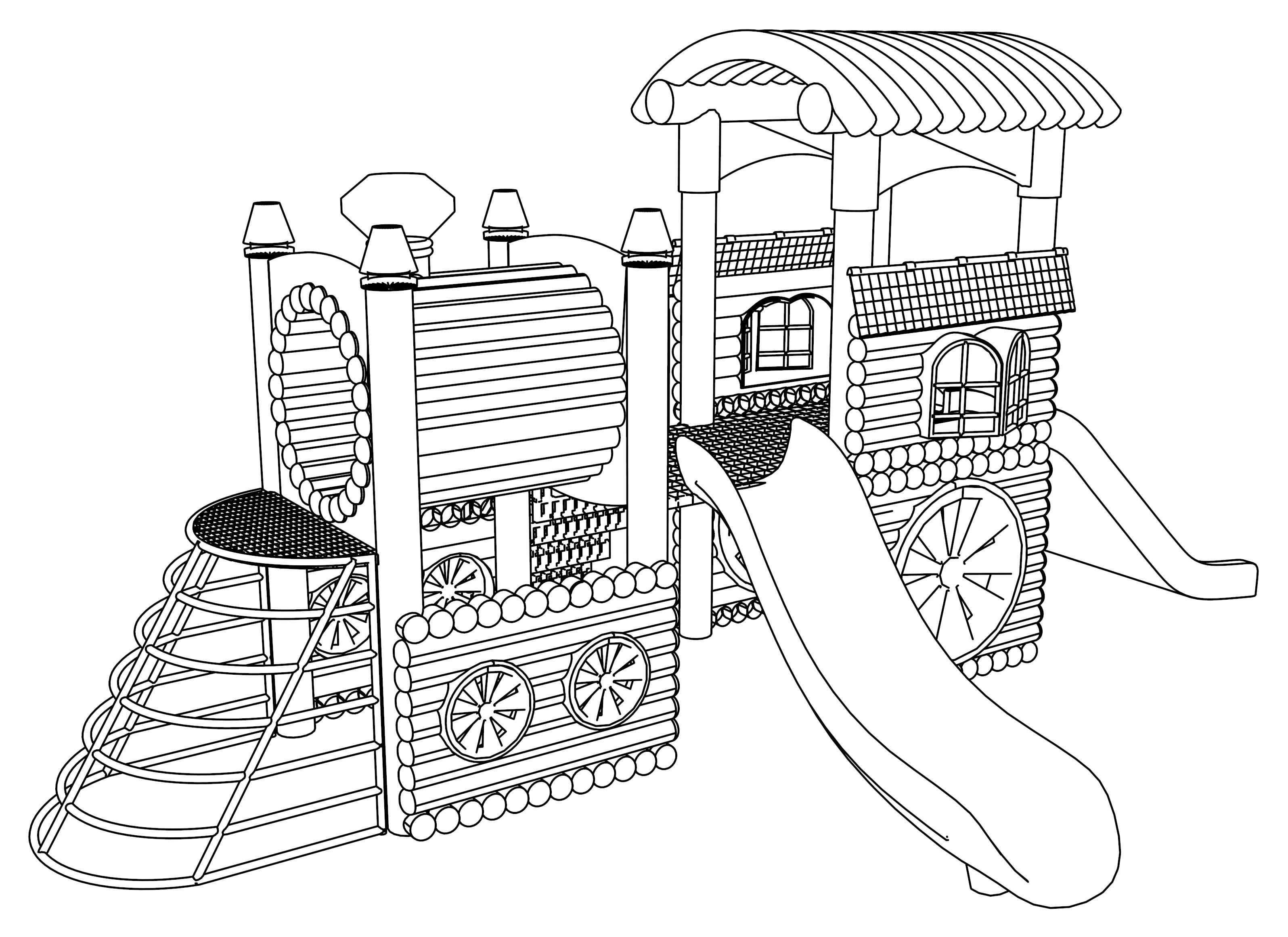 Pinterest | Free Printable Playground Coloring Worksheets