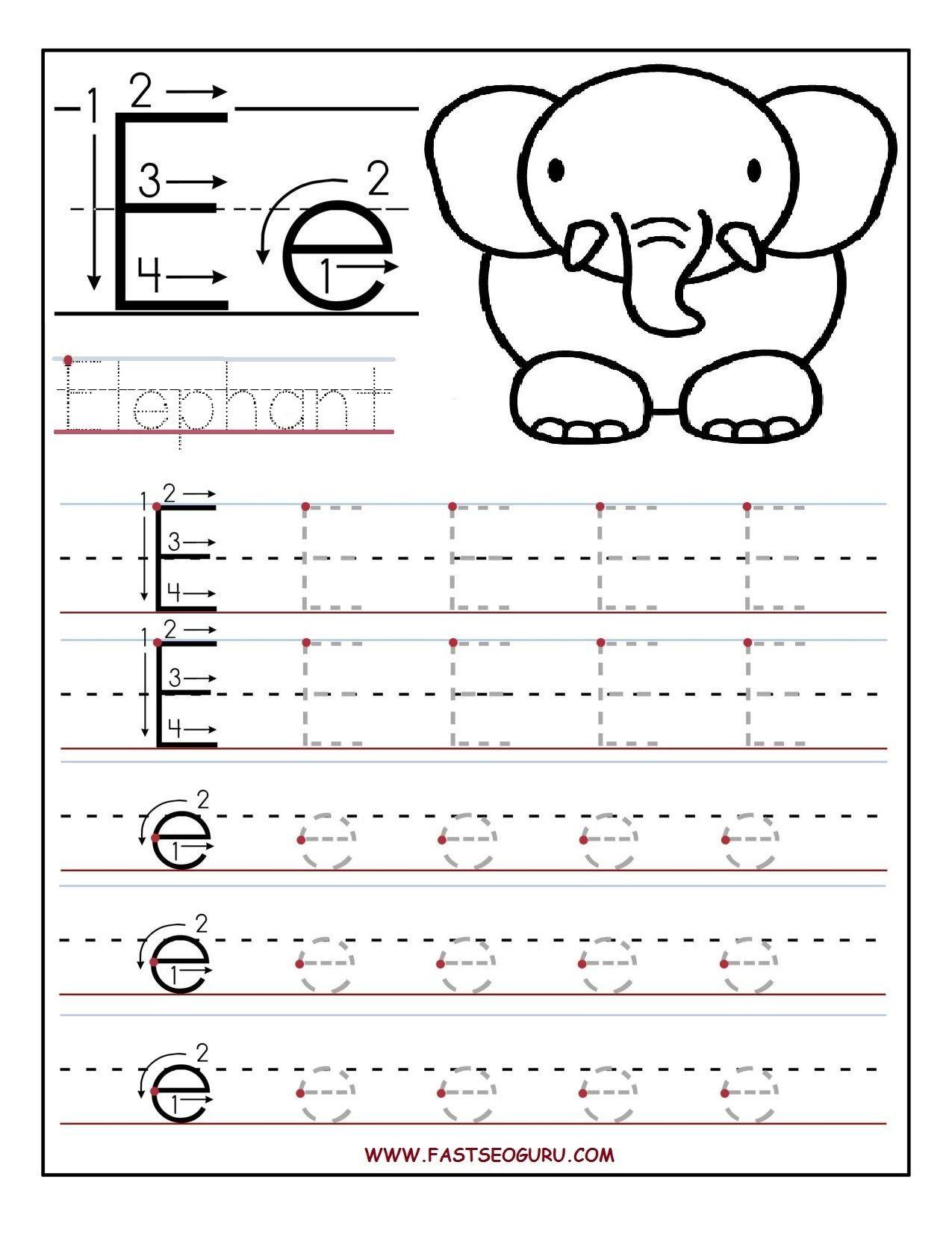 Pinvilfran Gason On Decor | Letter E Worksheets, Letter Tracing | Printable Letter E Worksheets For Preschool