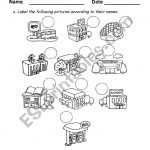 Places At Town   Esl Worksheetandresdomingo | Places In Town Worksheets Printables