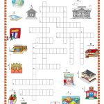 Places In Town Crossword Puzzle Worksheet   Free Esl Printable | Places In Town Worksheets Printables