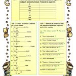 Possessive Adjectives With The Verb To Be Worksheet   Free Esl | Possessive Pronouns Printable Worksheets