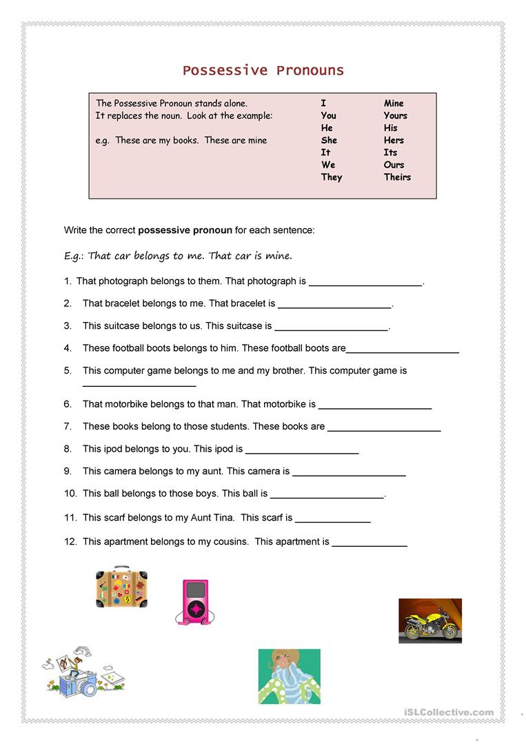 Possessive Pronouns Worksheet - Free Esl Printable Worksheets Made | Possessive Pronouns Printable Worksheets
