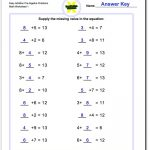 Pre Algebra | Algebra Worksheets For 4Th Grade Printable