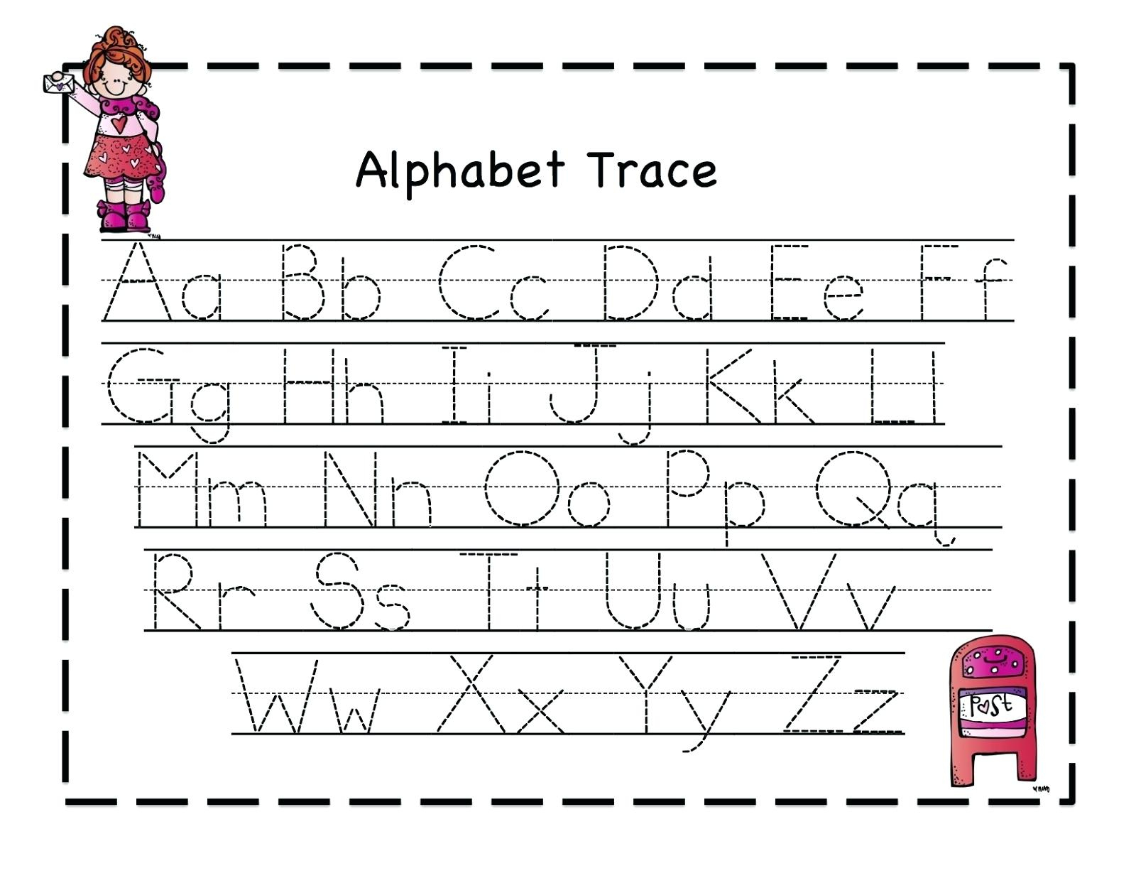 Pre K Letter Tracing Worksheets A With Pre Kindergarten Alphabet | Free Printable Alphabet Tracing Worksheets For Kindergarten