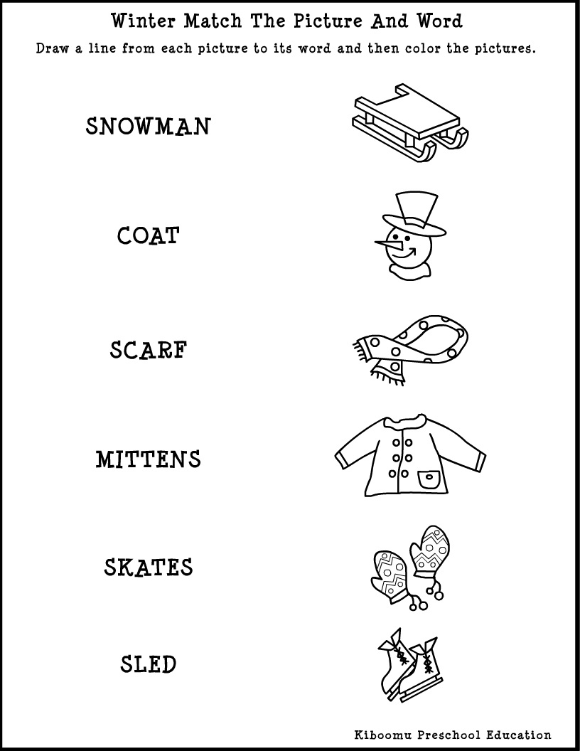 Pre K Reading Worksheets – With Kindergarten Also Activities For | Free Printable Winter Preschool Worksheets