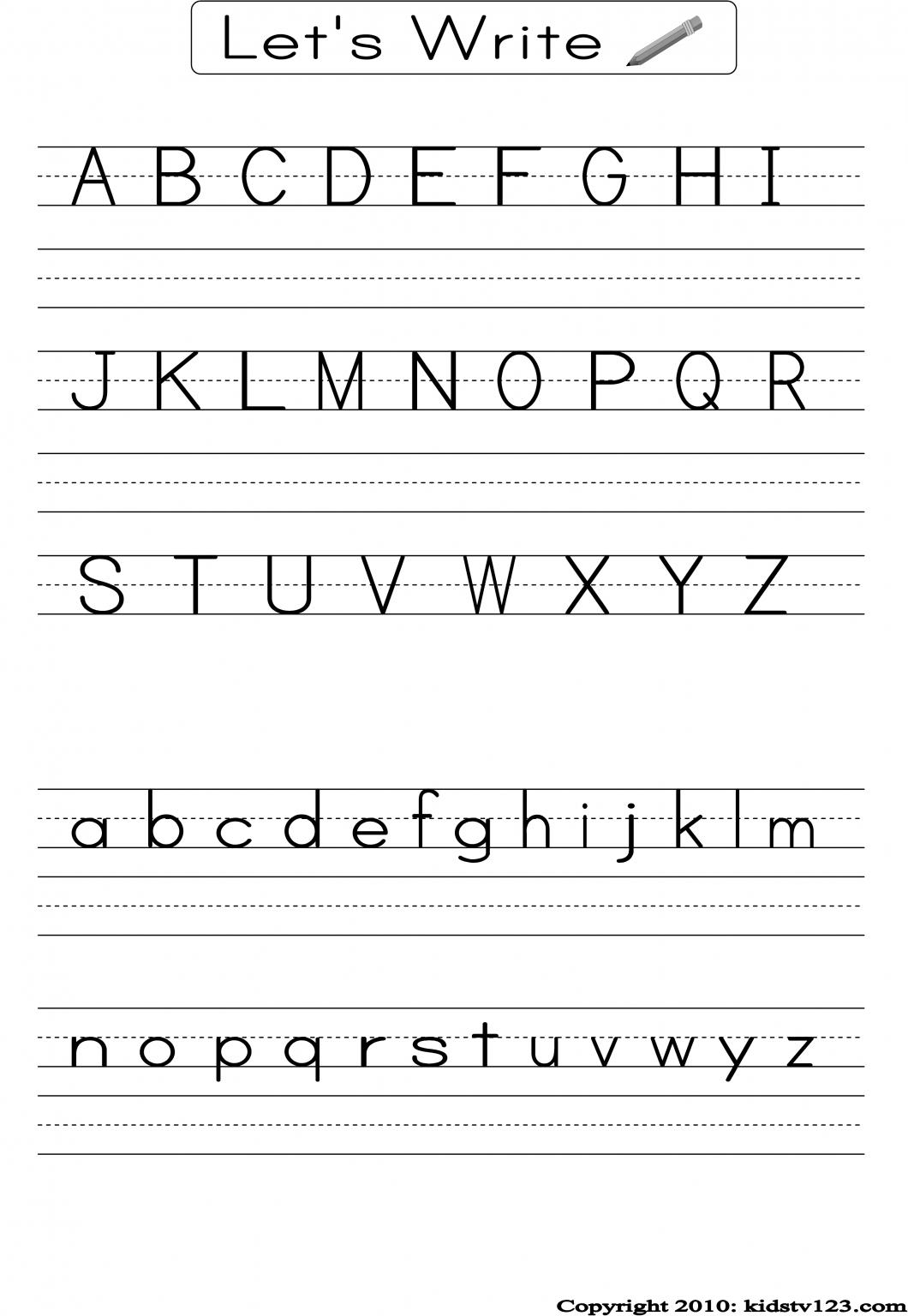 Pre K Writing Worksheets – With Free Printables Also Printable | Printable Handwriting Worksheets For Kindergarten