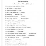 Preposition Exercises   Koran.sticken.co | Printable Preposition Worksheets