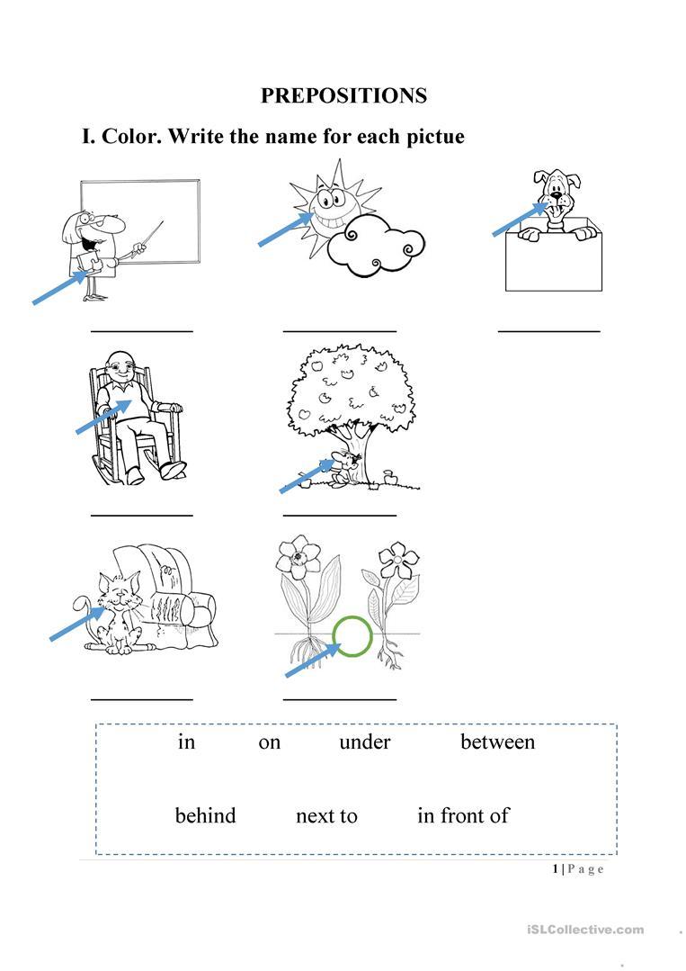 Preposition Worksheet Worksheet - Free Esl Printable Worksheets Made | Free Printable Preposition Worksheets For Kindergarten